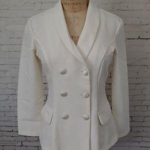Vintage White Double Breasted Blazer